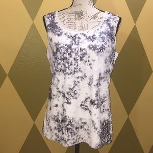 Coldwater Creek Sequined Sleeveless Tee M 10-12